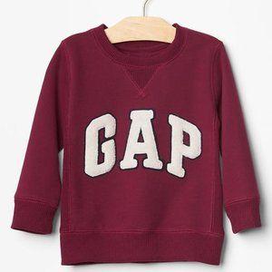 12-18 fall Baby Gap maroon LOGO sweatshirt new